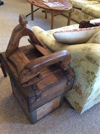 Very old wood saddle