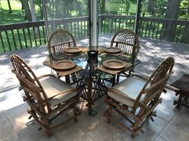 Bent Twig Table with 4 chairs