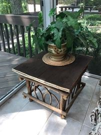 Bent twig side table