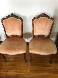 French carved side chairs