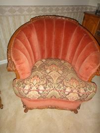 Vintage chair, matching sofa