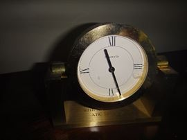 Tiffany clock, presented to owner from ABC Sports