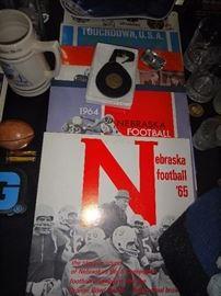 Lots NCAA sports memorabilia,  Big 10, Rose Bowl,  university of Iowa, and more