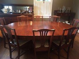 Nice Dining Table 8- Chairs ( Mahogany)