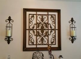 Lovely wrought iron wall decor