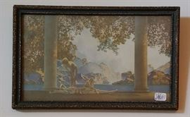 "Maxfield Parrish ""Daybreak"" small print in early frame."