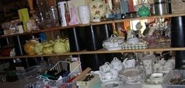 Teapots, vintage fragrance, figurines