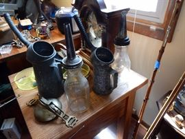 oil jars and galvanized cans