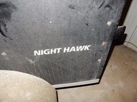 ENCLOSED TRAILER NIGHTHAWK, APPX 7 FEET BY 5 FEET ACROSS THE BACK