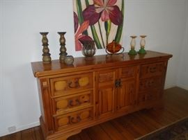 Mexican Style Carved Dresser