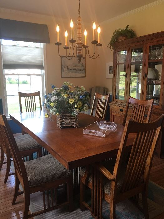 Mission Dining Room Set Table China Cabinet Buffet And 6 Chairs Extra Also Available