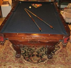 GREAT- WORLD OF LEISURE OXFORD POOL TABLE WITH ACCESSORIES