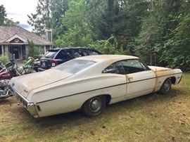 68 impala...34,000 original miles. $8000 obo   Some rust but runs great