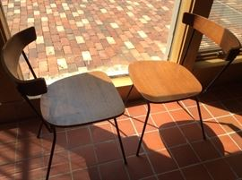 EAMES ERA MATCHING CHAIRS. NO MARKINGS WE CAN FIND possibly Paul McCobb