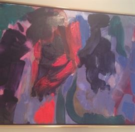 """Friedel Dzubes Abstract acrylic on canvas 28 1/2"""" x 42 1/2"""""""