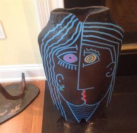 """Large pottery vase 26"""" x 14 1/2"""""""