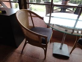 Rattan arm chair (one of 2 available)