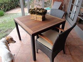 Eurolux 3-piece patio set (teak and rattan)