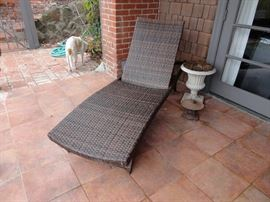 Rattan chaise (2 are available)