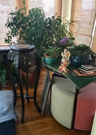 Lots of home decor, tables, plants & decorative items