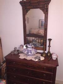 lovely dresser with mirror,  Bowl & Pitcher
