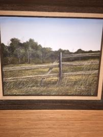 an original Pete Watson painting--a well known Lafayette artist