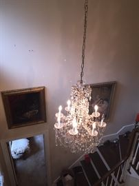 glorious large crystal chandelier