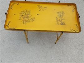 FRENCH TOLE TABLE