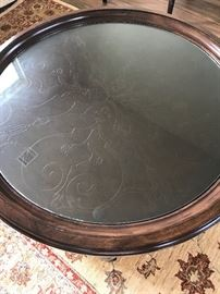 Bernhardt coffee table with a matching side table.