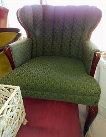 wing-back accent chair     LIVING ROOM