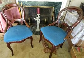 antique chair pair     LIVING ROOM