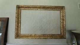antique large gold mirror     LIVING ROOM