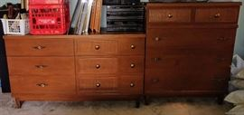 mid-century dresser and chest of drawers     BEDROOM