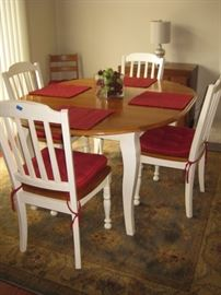 Stylish painted and distressed dining set