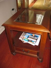 Beveled Glass end table