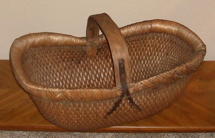 Handsome, one of a kind, handmade basket from China.