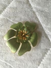 Textured flower pin