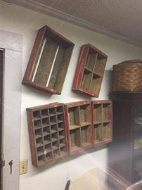 Vintage Coca Cola crates