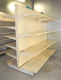 "Double Sided Pressed Metal Retail Shelving, 78""H x 98""W x 48""D, Shelves Approx 22.5""D"