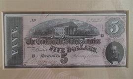 Confederate $5 note, Richmond, VA , Feb 17, 1864