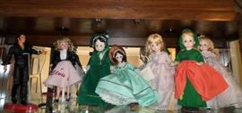 Some of the Madame Alexander Dolls from the HUGE doll collection