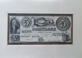 Bank of Ocmulgee, Macon, GA, $5 Note, Feb 6, 1840