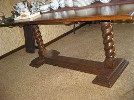 long, narrow drop leaf table