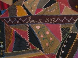 fabulous detail in 1893 quilt