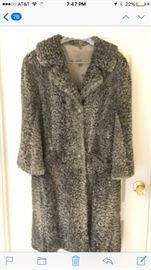 Vintage Curly Lamb Wool Coat  Smoky Grey. Perfect condition