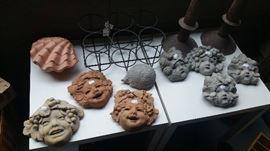 Leona Lavorato A Mano Italia ceramic gargoyle heads (WITH TAGS)