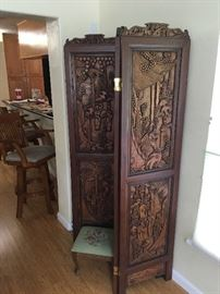 Beautiful hand carved screen