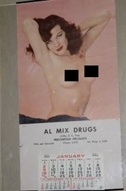 Vintage pin up calendar