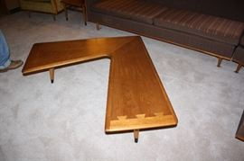 "Lane ""Acclaim"" boomerang mid-century coffee table"