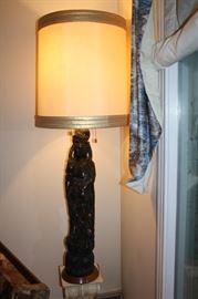 Beautiful large lamp of a woman